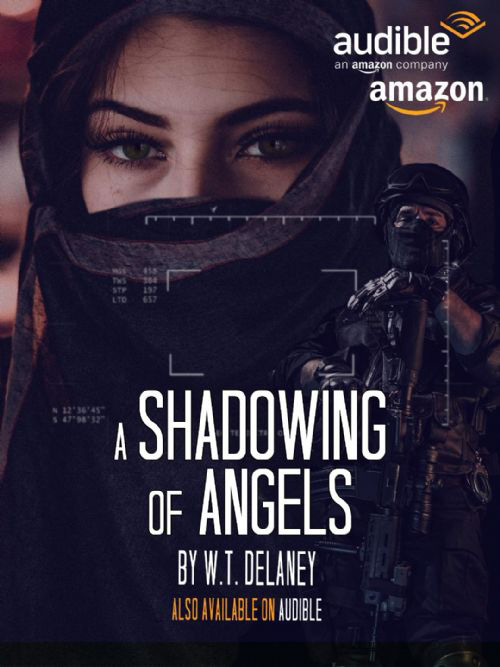 The cover of 'A Shadowing of Angels' as available on Amazon